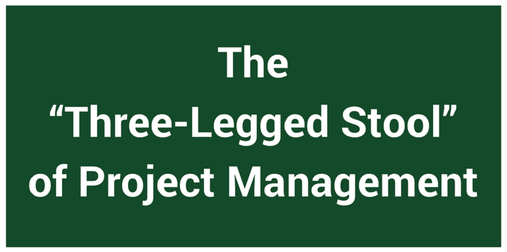 "The ""Three-Legged Stool"" of Project Management"