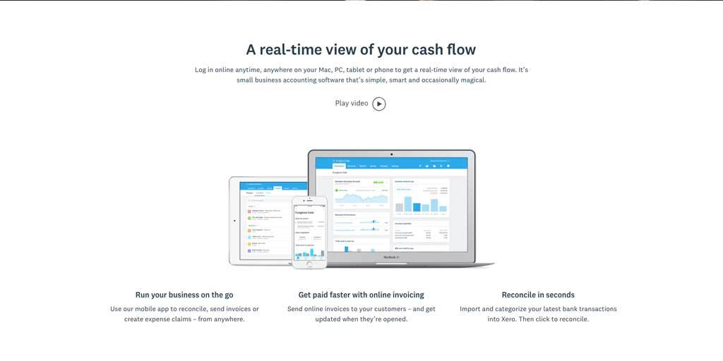 Xero bookkeeping software screenshot